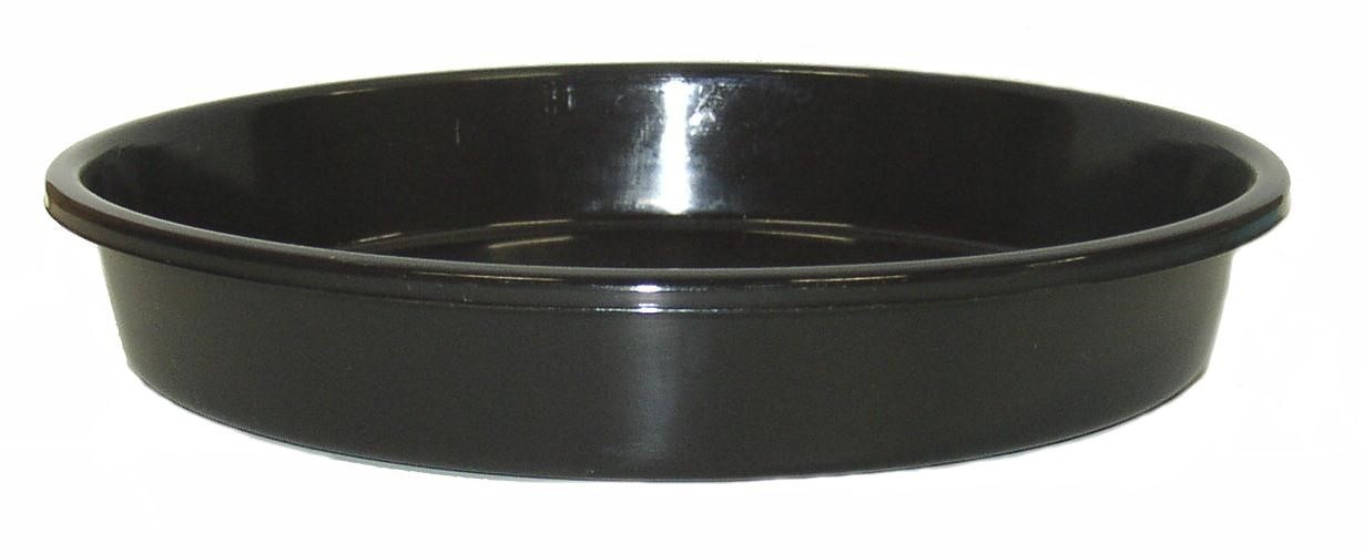 BLACK PLASTIC SAUCER TO SUIT 250mm POT GDP114