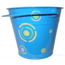 KIDS METAL BUCKET (BLUE)