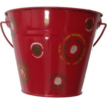 KIDS METAL BUCKET (RED)