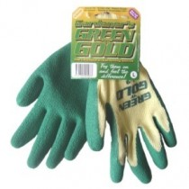 GREEN LEAF – GREEN & GOLD  GARDEN GLOVES