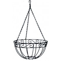 350mm DECORATIVE WIRE HANGING BASKET & LINER GDP402
