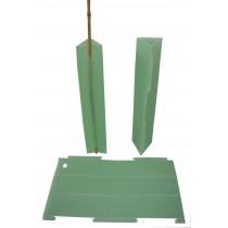 FLUTED PLASTIC VINE GUARDS 600mm                       GDS161