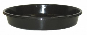 BLACK PLASTIC SAUCER TO SUIT 200mm POT GDP112